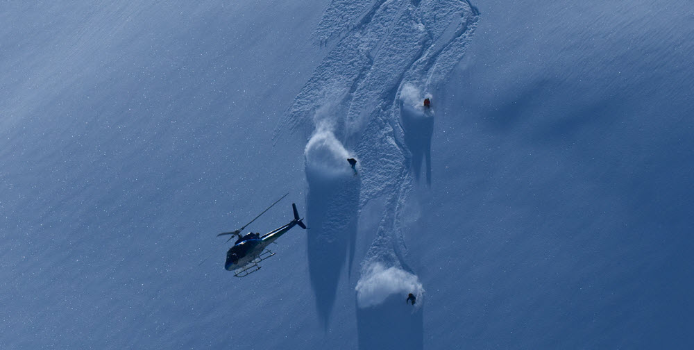 On the move. Big Mountain, Bella Coola Heli Sports, BC, Canada
